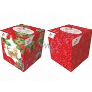 Linteo Papierové vreckovky 3 vrstvové 60 kusov vianočné motívy v krabičke