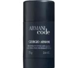 Giorgio Armani Code Men deodorant stick pro muže 75 ml