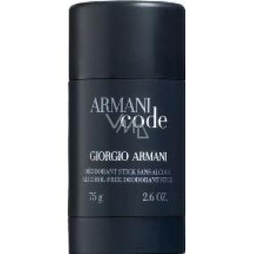 Giorgio Armani Code Men deodorant stick pre mužov 75 ml