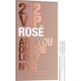 Carolina Herrera 212 VIP Rosé parfémovaná voda pro ženy 1,5 ml s rozprašovačem, Vialka