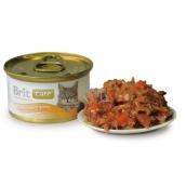 Brit Care Tuniak, mrkva + hrášok pre všetky mačky 80 g
