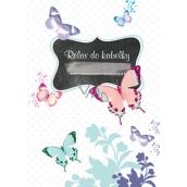 Ditipo Relax do kabelky Motýľ zápisník 15 x 10,5 cm