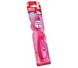 Hello Kitty Soft blikající zubní kartáček pro děti s časovačem 1 minuty