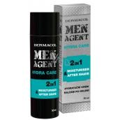 Dermacol Men Agent 2v1 Hydratační gel, krém a balzám po holení 50 ml