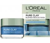 Loreal Paris Pure Clay Blemish Rescue Mask pleťová maska proti černým tečkám 50 ml