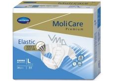 MoliCare Premium Elastic 6 kvapiek L 110-150 cm zalepovacie plienkové nohavičky pre stredný až ťažký stupeň inkontinencie 30 kusov