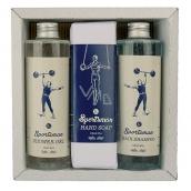 Bohemia Gifts & Cosmetics Sportsman sprchový gél 250 ml + šampón na vlasy 250 ml + toaletné mydlo 145 g, pre mužov kozmetická sada
