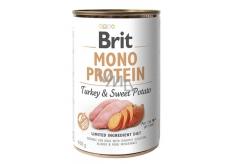 Brit Mono Proteín Moriak so sladkými zemiaky 100% čistý morčacie proteín kompletné krmivo pre psov 400 g