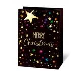 BSB Luxusný Vianočný darčeková papierová taška veľká Merry Christmas 36 x 26 x 14 cm VDT 433-A4