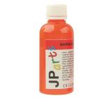 JP arts Farba na textil na svetlé materiály, Glitrové 2. Oranžová 50 g
