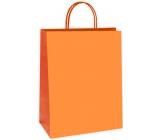 Ditipo Darčeková papierová taška 27 x 12 x 37 cm EKO oranžová