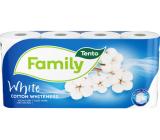 Tento Family Cotton Whiteness toaletný papier biely 2 vrstvový 150 útržkov 8 kusov