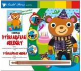 Vyškrabávací oblečky Medvídek 18 x 15,5 cm