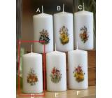 Lima Jarní motiv Zajíčci svíčka bílá válec 50 x 100 mm 1 kus
