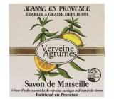 Jeanne en Provence Verveine cédru - Verbena a Citrusové plody tuhé toaletné mydlo 100 g