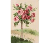 Bohemia Gifts Aromatická vonná karta Ruže 10,5 x 16 cm