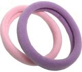 Vlasová gumička růžová, fialová 5 x 1 cm 2 kusy