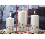 Lima Starlight sviečka biela / medená 70 x 150 mm 1 kus