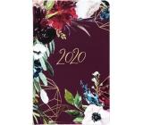 Albi Diár 2020 vreckový týždenný Lúčne kvety 15,5 x 9,5 x 1,2 cm