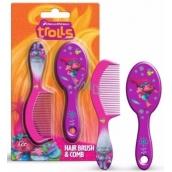 Trollovia Kefa a hrebeň na vlasy pre deti 2 kusy