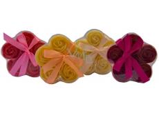 NeoCos Mydlová ruže konfety červená 5 kusov x 3 g, darčekové balenie