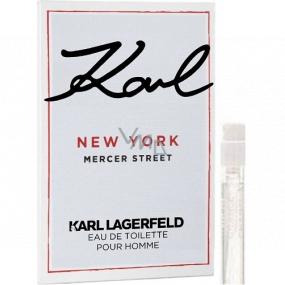Karl Lagerfeld Karl New York Mercer Street toaletní voda pro muže 2 ml s rozprašovačem, Vialka