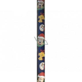 Ditipo Darčekový baliaci papier 70 x 200 cm Vianočný Disney Mickey Mouse tmavomodrý