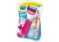 Scholl Velvet Smooth Express Pedi with Diamond Crystals Pink elektrický pilník na chodidlá 1 kus