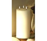Lima Rustik sviečka biela valec 3 knôty doba horenia cca 140 hodín 150 x 300 mm