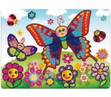 Maľovanie vodou sa štetcom Motýľ 20 x 15 cm