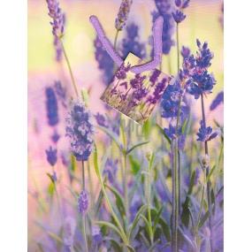 Nekupto Darčeková papierová taška strednej 23 x 18 x 10 cm fialové kvety 1356 40 ÚFM