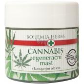 Bohemia Gifts & Cosmetics Cannabis Konopný olej regenerační mast pro suchou a popraskanou pokožku 120 ml