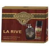 La Rive Cabana toaletní voda pro muže 90 ml + deodorant sprej 150 ml, dárková sada