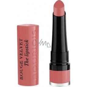 Bourjois Rouge Velvet The Lipstick rtěnka 02 Flaming Rose 2,4 g