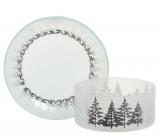 Yankee Candle Winter Trees tienidlo malé + tanier malý na sviečku malú Classic