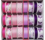 Ditipo Stuha viazacie saténová fialová 3 mx 25 mm