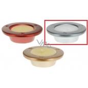 Sviečka v keramike 100x30 Tanierik strieborný 4118