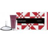 Calvin Klein Euphoria toaletná voda pre ženy 100 ml + toaletná voda 10 ml + telové mlieko 200 ml, darčeková sada