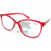 Berkeley Čítacie dioptrické okuliare +3,0 plast červené 1 kus MC2191