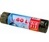 Alufix Economy Sáčky do odpadkového koša zaťahovacej čierne, 8 μ, 60 litrov, 64 x 70 cm, 10 kusov