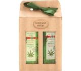 Bohemia Gifts & Cosmetics Herbs Cannabis Konopný olej sprchový gel 250 ml + vlasový šampon 250 ml, kosmetická sada