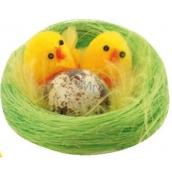 Kuriatka plyšová v zelenom hniezde 6 cm 1 kus