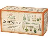 Grešík Devatero bylin Dobrou noc bylinný čaj 20 x 1 g
