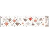 Okenní fólie bez lepidla Barevné visící ozdoby, pruhy č.3 64 x 15 cm