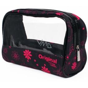 Albi Original Taška na kozmetiku s okienkom Ružové kvety 19 x 13 x 9 cm