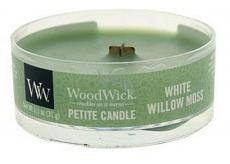 Woodwick White Willow Moss - Vrba a mach vonná sviečka s dreveným knôtom petite 31 g