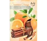 BISPOL Aura Cinnamon - Orange - Škorica a pomaranč vonné čajové sviečky 6 kusov