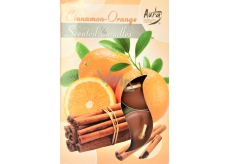 Bispol Aura Cinnamon - Orange - Skořice a pomeranč vonné čajové svíčky 6 kusů