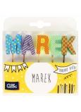 Albi Tortové sviečky meno - Marek, 2,5 cm