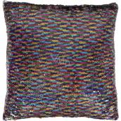 Albi Vankúš s flitrami Dúha 37 x 37 x 10 cm